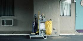 motel housekeeping cart